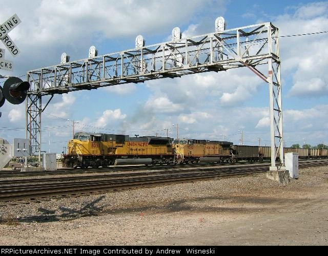 Empty Coal train departing North Platte