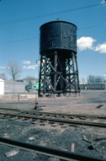 1222-11 GN steam-era water tank at BN Mpls Jct. roundhouse