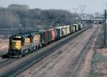 1224-18 Westbound C&NW freight near Hamline Ave. on BN ex-GN