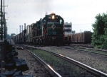 1234-35 Eastbound BN freight with C&IM power passes ex-NP East Minneapolis Yard