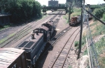 1244-22 MN&S Transfer on BN ex-GN at 1st Street North (Hole in the wall)