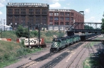 1244-27 BN Coal train on ex-GN at First Street North Junction (Hole in the wall)