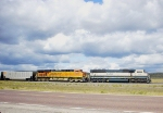 BNSF 9508 and 5884; just your average consist along US Highway 16