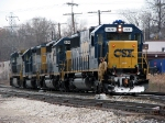 CSX 2479 has it's markers lit as Q326 backs to the house