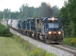 HLCX 6302 leads Q326-07 eastward with 5 more units in tow