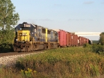 CSX 8563 & 8549 head up the hill making track speed with Q327-07