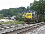CSX 8875 leads Q335-10 into the yard with 6300 feet stretched out behind it