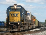 With a new crew aboard, CSX 8666 leads N903-12 westward