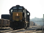D006-19 coasts down the mainline before heading west