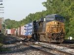 CSX 5423 rolls onto 2 Track with Q326-19