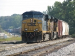 CSX 5266 & UP 8335 bring Q335-24 up the Even Lead as Y320 waits at Plaster Creek