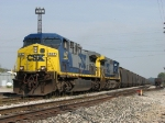 CSX 447 & 423 put their muscle to the rail as N916-17 begins to pull