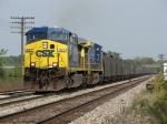 CSX 447 & 423 start dragging N916-17 west