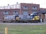 CSX 1556 & 9249 rest outside of the shop