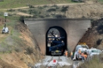Repair crews at work in Tehachapi Loop tunnel
