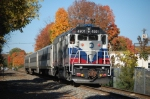 Fall is in full blast as Metro North Beastie 4901 waits for a signal to go east from the Passenger Station