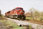 CP 9625 leads this eastbound past the mules