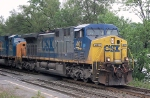 CSX AC-4400CW #401 leads a westbound through the station