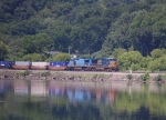 CSX 5314 Hugs The Mohawk River At MP 176 Just West Of Amsterdam NY