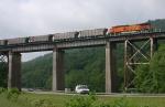 BNSF 5624 DPU for the uphill coal train