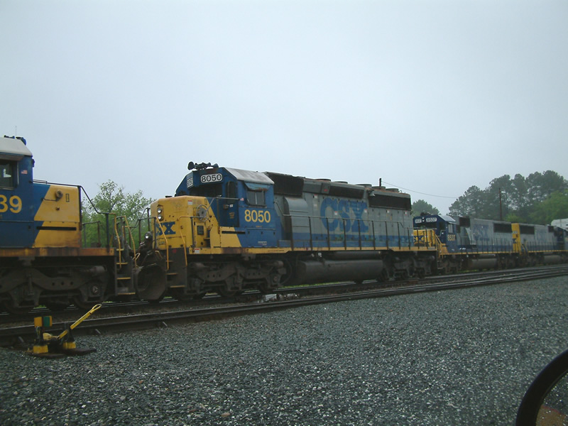 CSX 8050 was set off here