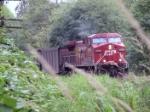 CP 9758; westbound coal train