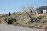 Virginia & Truckee Railroad Tourist Train rounds a bend