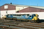 Three CSX GP38-2's idle at CSX's Bryan Park Engine Terminal