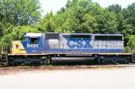 CSX 8450 idles during midday break