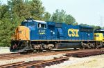 CSX 4747 leads the way on a clear signal Southbound through Collier Yard