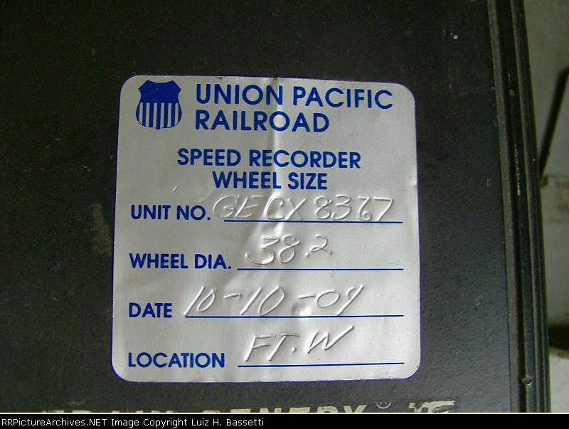 Speed Recorder Wheel Size