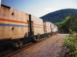 Amtrak train passes Duncannon station