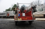 Tuckahoe Volunteer Fire company at the Cape May Seashore Lines Santa Train