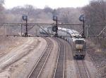 Amtrak around the curve