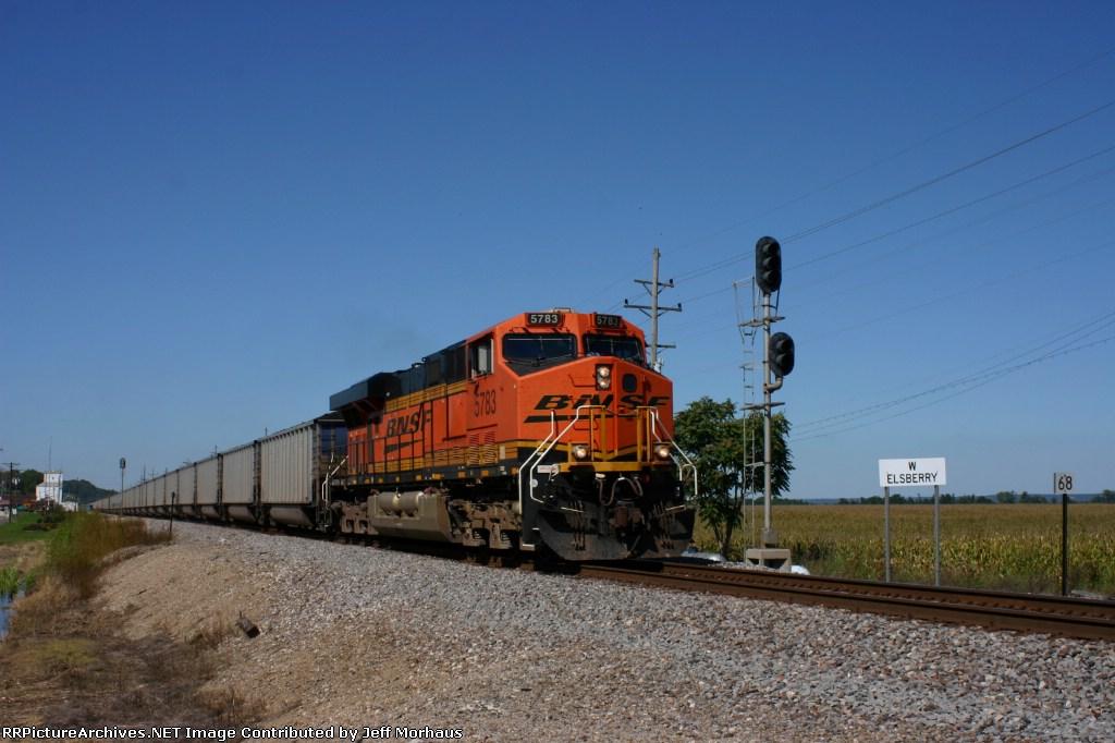 BNSF 5783 EB loaded coal.