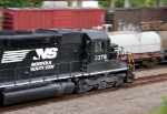 """NS #3378 leading the Amtrak """"Crescent"""" out of town"""