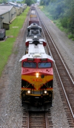 Running behind Peavey's on the double track