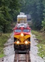 Stack train westbound