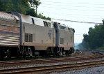 Amtrak train #19 heading toward the NS yard