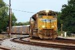 Stack train entering track AV1 westbound