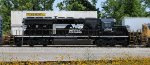 Freshly painted SD40-2 in the consist