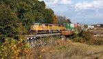 Stack train heading toward the west coast