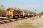 BNSF 4682 coming off the Afton sub onto the Cherokee sub and waiting for a eastbound stack train