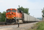 BNSF 6177 leads a north bound TXUX coal drag