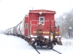 MoPac caboose on MWIAD in the snow