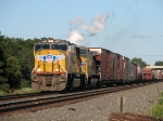 UP 4097 leads mixed freight west