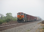BNSF 971 on eastbound mixed freight
