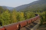 BNSF thru the Salish Mountains