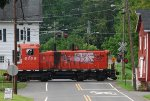 BRW 8159 crosses Main Street while shuffling cars around
