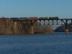 Q370 crosses the Susquehanna River